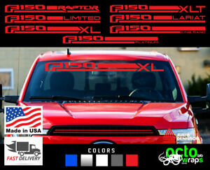 FORD F150 fits Rapton Lariat Limited 4X4 windshield vinyl decal sticker stripes