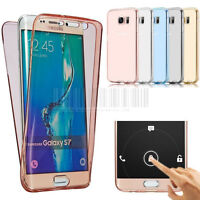 Slim 360° Full Body Shockproof Clear Case TPU Gel Protective Soft Cover Wrap Up