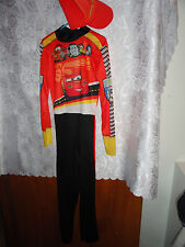 """BOY'S DISNEY S """"CAR'S"""" HALLOWEEN COSTUME WITH MATCHING HAT-SIZE 7/8"""
