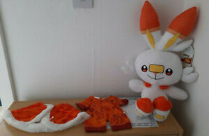 NEW OUT FROM BUILD A BEAR ONLINE EXCLUSIVE POKEMON SCORBUNNY BUNDLE BNWT'S