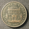 Canada 1842 Half Penny Token Un Sou PC-1A2 / Breton 527 / J-068