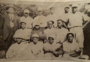 VINTAGE AFRICAN AMERICAN BASEBALL TEAM NEGRO LEAGUE? BLACK HISTORY UNIFORM PHOTO