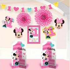 Minnie Mouse Fun to Be One 10 Pc Room Decorating Kit 1st Birthday Party