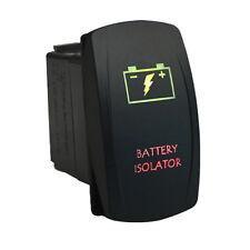 Rocker switch 663GR 12V BATTERY ISOLATOR Laser LED green red 4wd