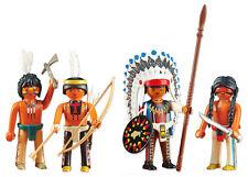 "PLAYMOBIL® Western 6271+6272 ""3 x Indianer+Häuptling der Indianer"" NEU/OVP!"