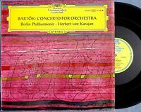 DGG 139 003 SLPM Bartok CONCERTO FOR ORCHESTRA Karajan 1966 lp TULIPS stereo
