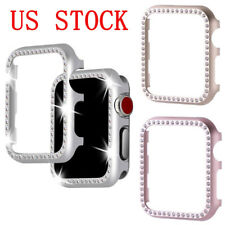US For Apple Watch 1/2/3 iWatch Face Case Cover 38/42mm Bling Crystal Rhinestone