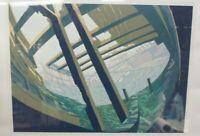 Marcus Van Twarn Original Serigraph Print Limited Ed 16/40 Shipwreck Boat