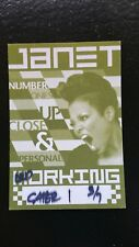 Janet Jackson 3/7/2008 Backstage Pass Catering Chicago LAST ONE IN STOCK!