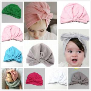 Newborn Baby Turban Hat Head Wrap Soft Cotton Handmade Headband Beanie Hat Cap