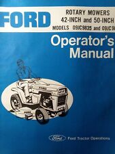 Ford Lawn Garden Tractor 42 50 Rotary Mower Deck Owners Manual 09jc9835 09jc9838