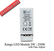 Kengo UNIVERSALE LED dimmer Modulo - 5W - 250W Regolare Sottile-Dado di bloccaggio-Manopola