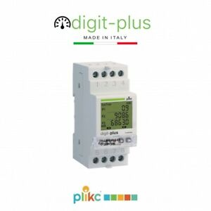 Contatore digitale di energia monofase multi fascia oraria DIGIT PLUS - Plikc