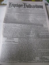 Leipzig Archive 19. siècle 3048e Leipziger populaire journal 1 1.10.1894 faksimil