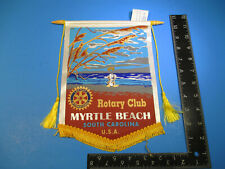 Vintage Rotary International Club Flag Banner Myrtle Beach SC Colorful   VSL C