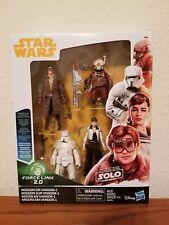 Star Wars Solo Movie Mission on Vandor Complete Set 3.75 inch Force link 2.0