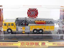 Code 3 Syracuse NY Sutphen Tower Ladder Fire Truck #1 1:64 Diecast 12931