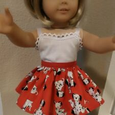 Doll Clothes SKIRT ONLY  Fits 18 inch American Girl DOLL  101 DALMATIANS  ~ 4817