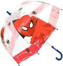 Spiderman Trasparente Ombrello 66cm (66cm) Rosso