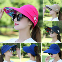 Women Ladies Summer Fashion Wide Brim Visor Beach Sun Hat Cap UV Protection