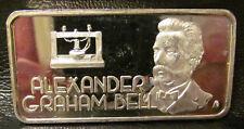 Alexander Graham Bell Hamilton Mint .999 Fine One Ounce Silver Bar