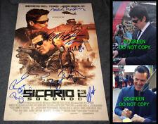 Sicario 2 Soldado signed poster cast x9 Josh Brolin 12x18 photo proof Benicio