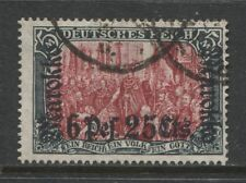 1911 German offices MOROCCO 6 Pes. 25 cts. issue used,  signed, $ 491.00