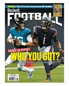 New November 2021 Beckett Football Card Price Guide Magazine W/ Lawrence, Fields