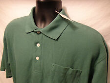 NWT Mens Chesterfield mens Polo Green Shirt S/S SZ L Polyester Blend