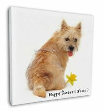 "Cairn Terrier Personalised Easter Gift 12""x12"" Wall Art Canvas De, AD-CT1DA2-C12"