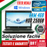 "*PC NOTEBOOK PORTATILE HP 6450B 14"" CPU i5 4GB RAM HDD 256GB +WIN 10 BUONO! BRT!"