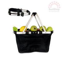 100% Genuine! D.LINE Shop & Go Collapsible Carry Basket 37 x 21 x 23cm Black!