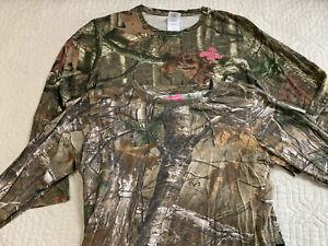 Mossy Oak Game Winner Camouflage Long Sleeve Tshirt Women Size Large Lot of 2