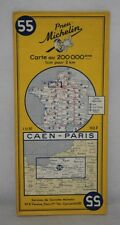 France - Michelin 1:200,000 Map - Caen & Paris - Sheet 55 - 1960