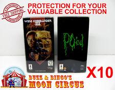 10x PANASONIC 3DO CIB CARDBOARD GAME BOX -CLEAR PROTECTIVE BOX PROTECTOR SLEEVE