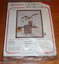 BUCILLA Creative Stitchery Kit No 8704 SANCTUARY for 16 x 20 lighthouse gull NOS