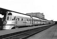 Burlington Denver Zephyr CB&Q Railroad Photo Stainless Steel Streamliner Train
