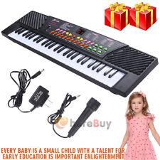 54 Key Electronic Keyboard Kid Electric Piano Organ w/Mic&Adapter Christmas Gift