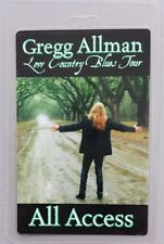 Gregg Allman Laminated Backstage Pass Low Country Blues Tour