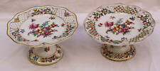 MAGNIFICENT PAIR OF 1900'S DRESDEN PORCELAIN  CENTER PIECE FOOTED DISHES