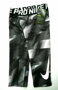 NWT NIKE PRO COOL Boys Compression 3/4 Tight Fit Youth (Little Big Kids) Pants