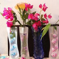 1/2/5/10Pcs Hot Unbreakable Foldable Reusable Plastic Flower Vase Best ATBD TR