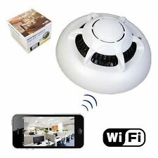 Smoke Detector WiFi Camera Wireless IP Camera SPY Hidden Camera iPhone Android