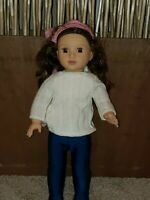 "Lotus Onda Bumbleberry Girls 18"" Brunette Doll - used"