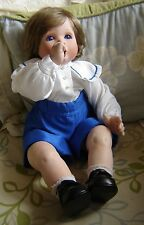 """Celia doll company William porcelain doll. 19"""" tall. Limited edition 101/200"""