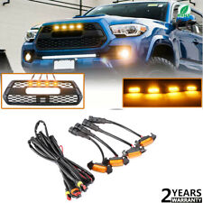 4x Raptor Style LED Amber Grille Lights Fit For 2016-2019 Toyota Tacoma TRD PRO