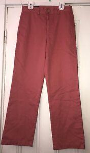Vineyard Vines Boys Nantucket Red Chino Pants Sz 12 NWT CLUB PANTS CLASSIC FIT