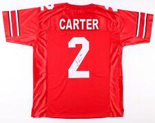 Cris Carter Signed Ohio State Buckeyes Jersey (JSA COA) Minnesota Vikings W.R.