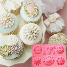 Brooch Jewelry Bowknot Fondant Cake Cupcake Decorating Mold Chocolate Mould