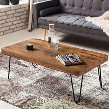 Massiver Couchtisch Holz Massiv Sheesham  115 cm Design Wohnzimmertisch Tisch